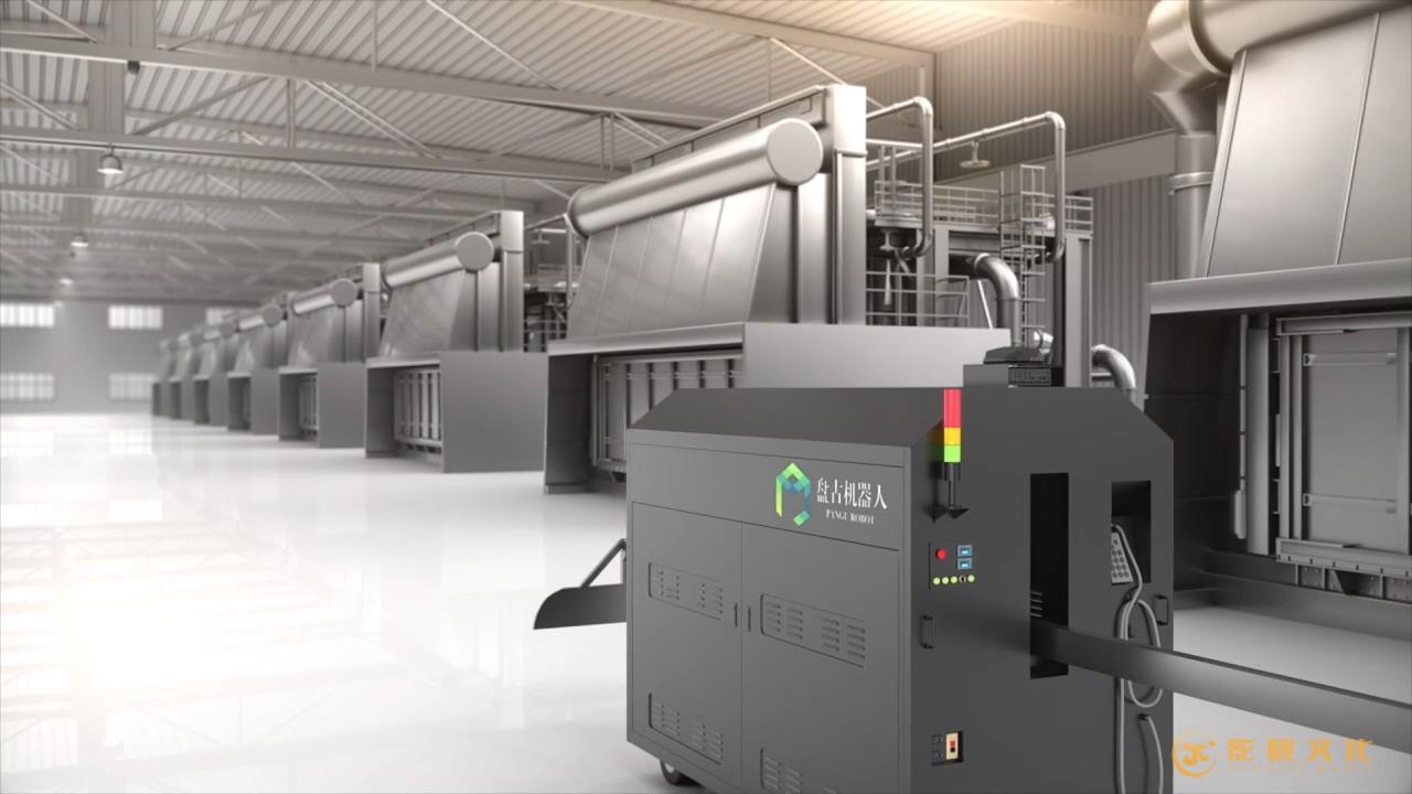 产品三维动画案例-盘古机器人工作区内自动行走